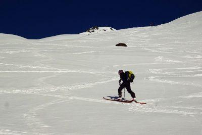 Im Anstieg bei der Skitour auf die Grünbergspitze