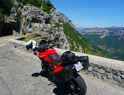 Mit dem Motorrad in Frankreich
